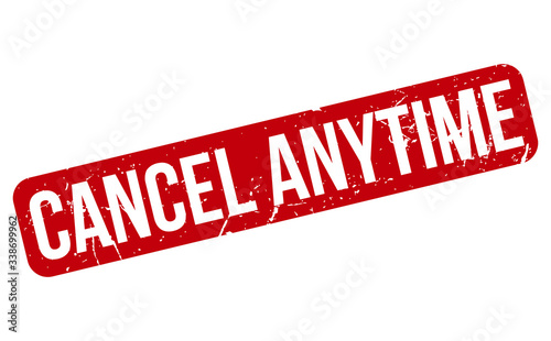 Cancel Anytime Rubber Stamp Wallpaper Mural