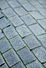 Curved Brick Pavement