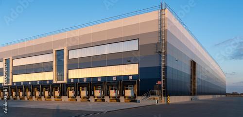 building of a modern logistics center Fotobehang