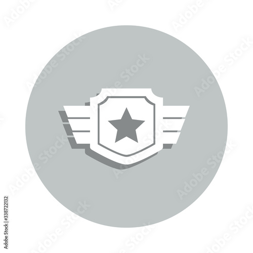 war star badge icon Canvas Print
