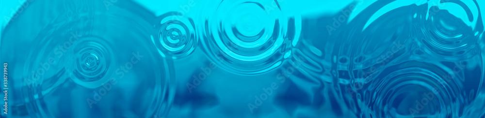 Fototapeta 水面に広がる抽象的な波紋