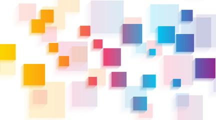 Panel Szklany Podświetlane Wzory geometryczne Colorful glossy squares abstract tech geometric background. Vector illustration