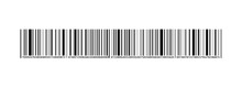 Vector Black Bar Code Stripe, Isolated, Random Numbers, Barcode Template.