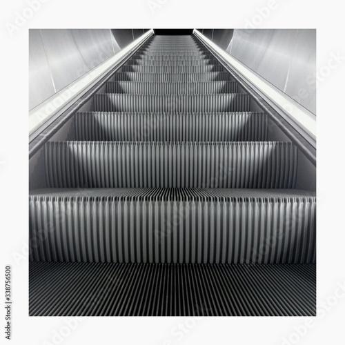 Fotografie, Obraz Lowe Angle View Of Empty Escalator