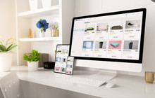 Online Shop Website On Home Of...