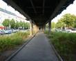 Pavement Under Elevated Walkway