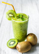 canvas print picture - Healthy kiwi smoothie summer recipe