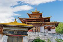 Punakha Dzong, Largest Monestary In Punakha Valley In Bhutan