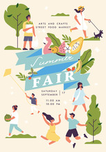 Vector Summer Fair Poster, Fly...