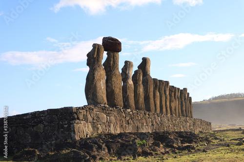 Photo 15 Gigantic Moai Statues of Ahu Tongariki View from the Back, UNESCO World Herit