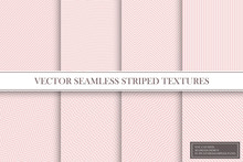 Collection Of Seamless Striped...
