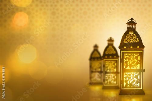 Photo Arabic lantern, Ramadan kareem background