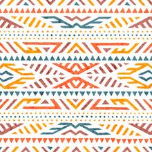 Cute Summer Tribal Pattern. Co...