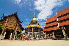 Pagoda Of Wat Phra That Lampan...