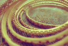 Extreme Close-up Of Gold Colored Bangles