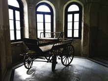 Vintage Brougham In A Castle