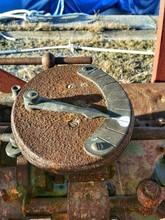 Close-up Of Rusty Sun Dial