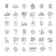 Garbage Vector Line Icons Set. Garbage icons set