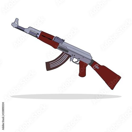 Russian gun ak-47 Canvas Print