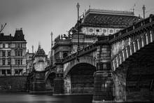 River Passing Through Arch Bridge