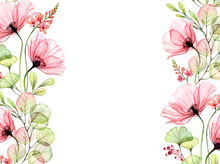 Watercolor Floral Background W...