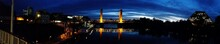 Panoramic View Of Tower Bridge Over Sacramento River At Night