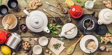 Various Tea And Teapots Compos...