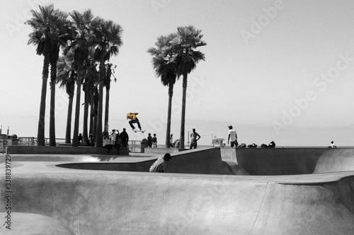 Fotografie, Obraz People At Skate Park