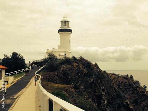 Obraz na plátně Cape Byron Lighthouse Against Sky
