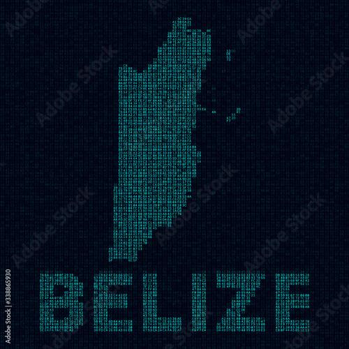Belize tech map Wallpaper Mural