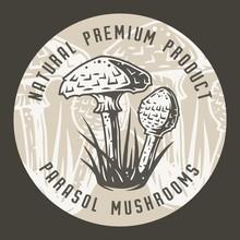 Autumn Forest Parasol Mushroom Picking, Vegan Menu