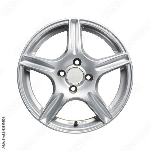 Fotografía Car alloy wheel on white background. Clipping path