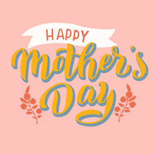 Happy Mother's Day Poster. Gre...