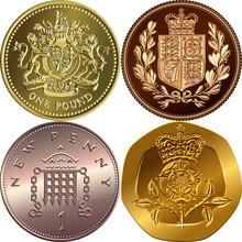 British Money Coins: Gold One ...