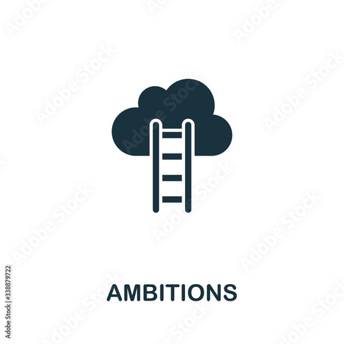 Ambitions icon from personal productivity collection Wallpaper Mural