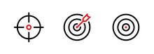 Set Of Aim, Target And Goal Ic...