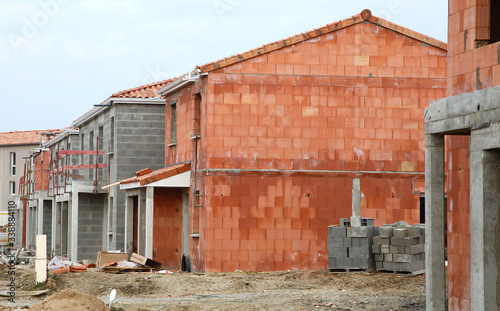 Chantier de construction de maisons Fototapeta