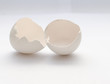white eggshell on a light background