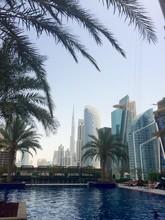 View Of Burj Khalifa From Swimming Pool