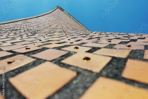 Fototapeta Low Angle View Of Luce Memorial Chapel Against Clear Blue Sky obraz