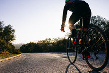 Close-up Of Athlete Riding Bic...