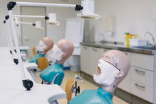 Room With Dental Training Manikins