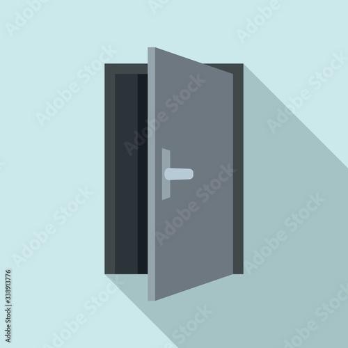 Fototapeta Steel open door icon. Flat illustration of steel open door vector icon for web design obraz