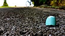Broken Eggshell On Road