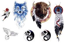 Indians Tattoo Set