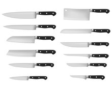 Kitchen Knife Types, Vector Re...