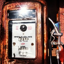 Vintage Gas Pump At Abandoned Station
