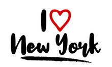 I Love New York Calligraphy Lettering For Posters, Cards Design, T-Shirts.