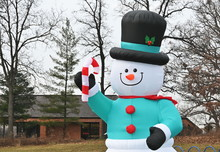 Inflated Snowman