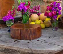 Flower And Fruit Arrangement In Restaurant Buffet
